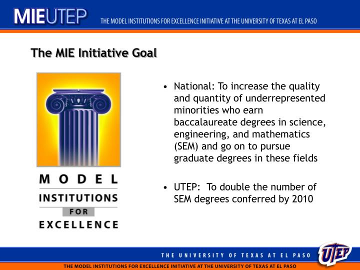 The MIE Initiative Goal