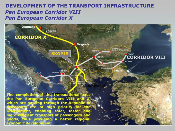 DEVELOPMENT OF THE TRANSPORT INFRASTRUCTURE
