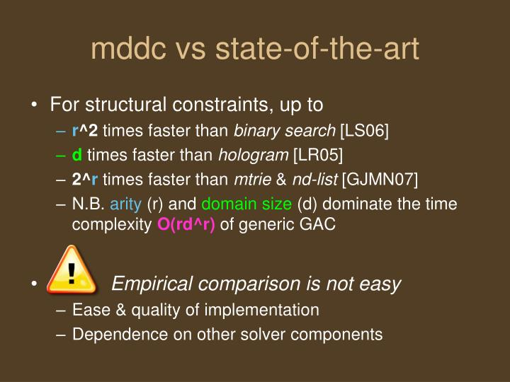mddc vs state-of-the-art