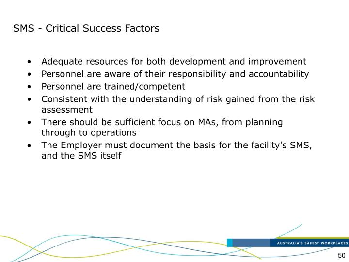 SMS - Critical Success Factors