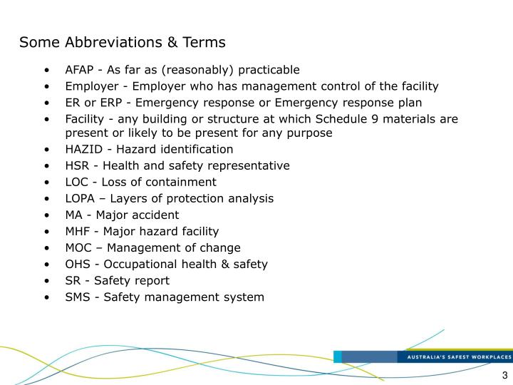 Some Abbreviations & Terms