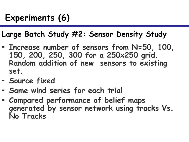 Large Batch Study #2: Sensor Density Study