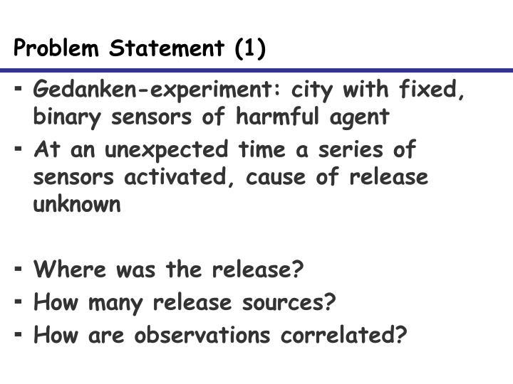 Problem Statement (1)
