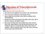 digestion of triacylglycerols