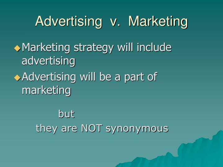 Advertising  v.  Marketing