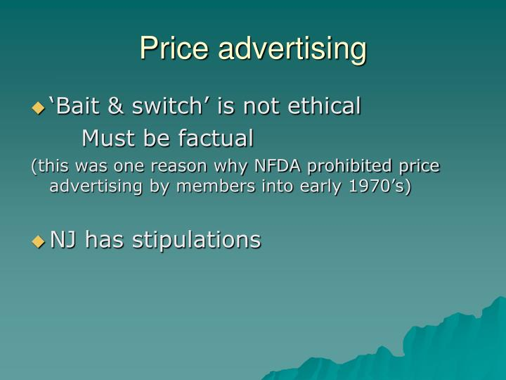 Price advertising