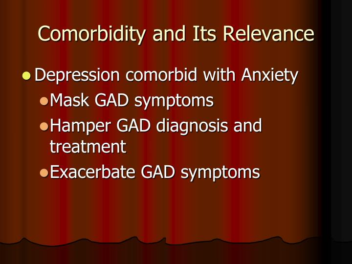 Comorbidity and Its Relevance