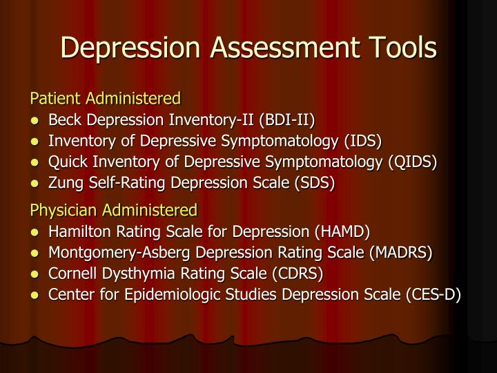 Depression Assessment Tools