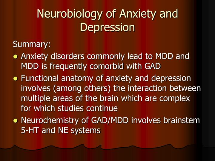 Neurobiology of Anxiety and Depression