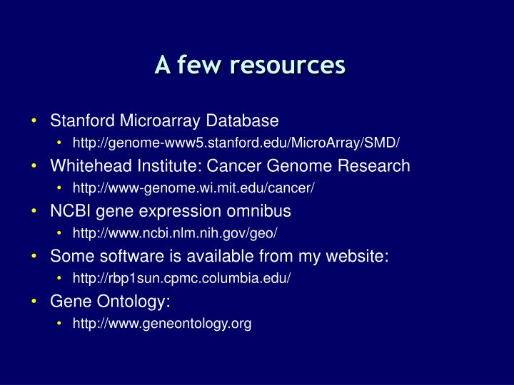 A few resources