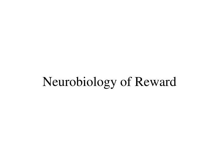 neurobiology of reward