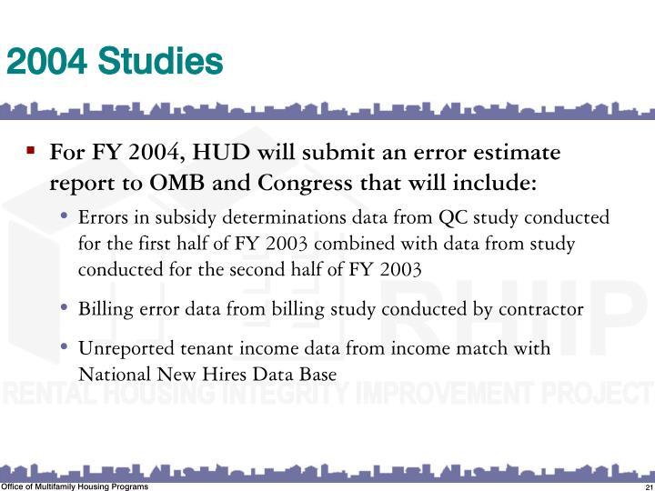 2004 Studies