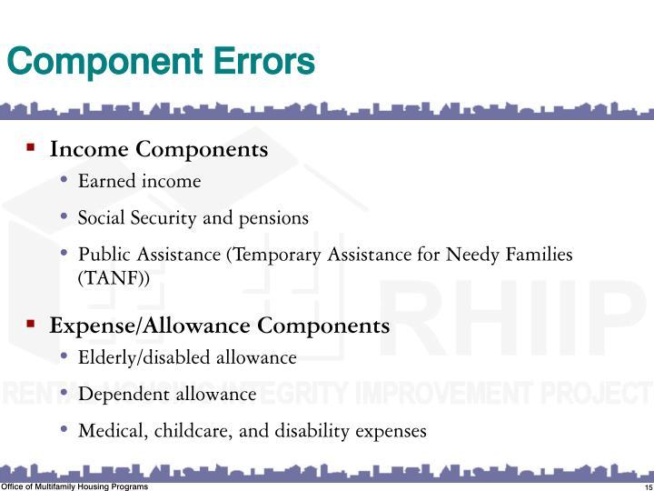 Component Errors