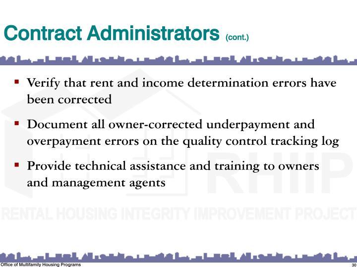 Contract Administrators