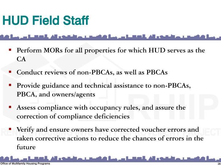 HUD Field Staff