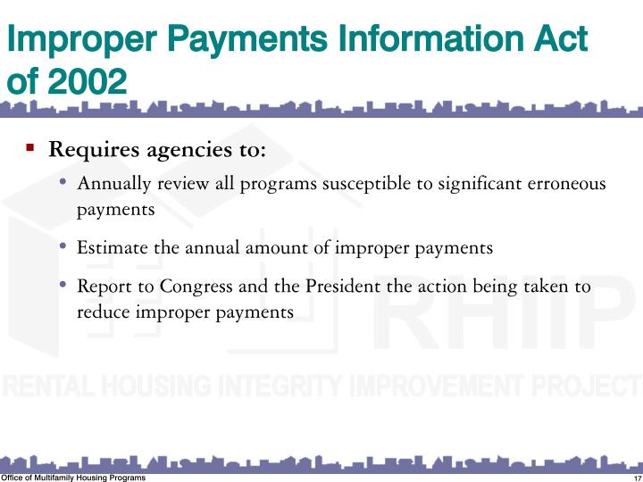 Improper Payments Information Act of 2002