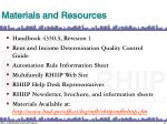materials and resources1