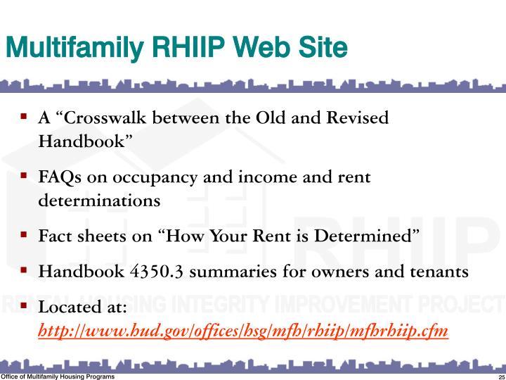 Multifamily RHIIP Web Site