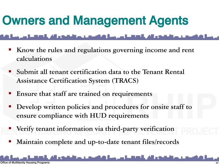 Owners and Management Agents