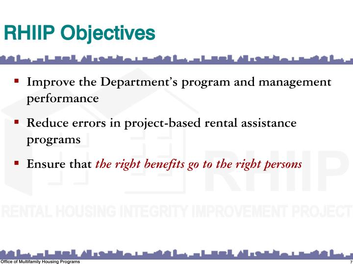 RHIIP Objectives