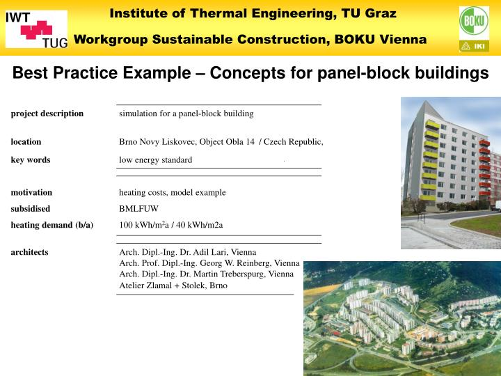 Best Practice Example – Concepts for panel-block buildings