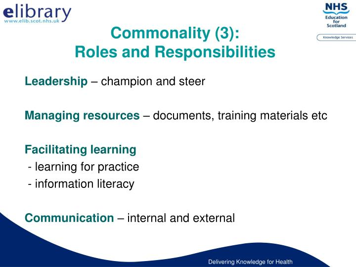 Commonality (3):