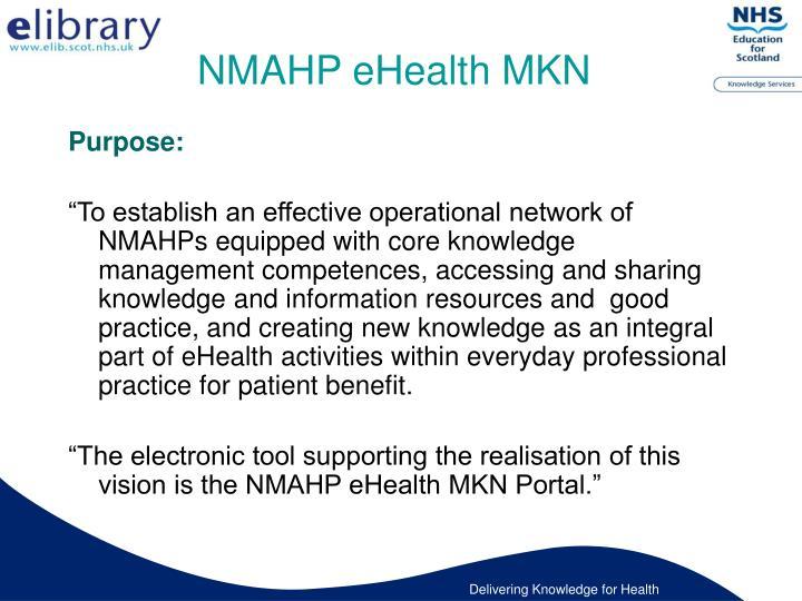 NMAHP eHealth MKN