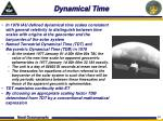 dynamical time