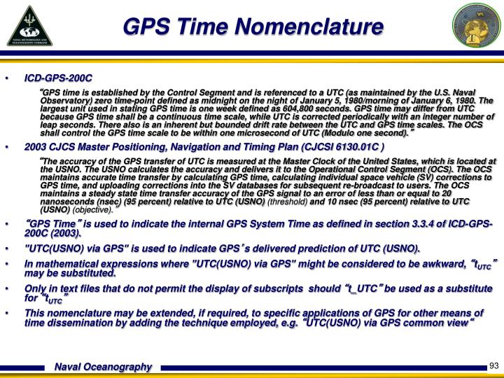 GPS Time Nomenclature