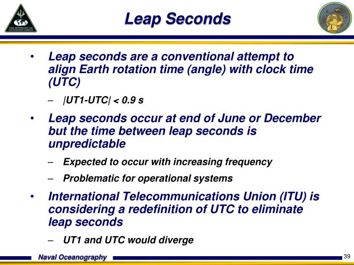 Leap Seconds