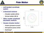 polar motion