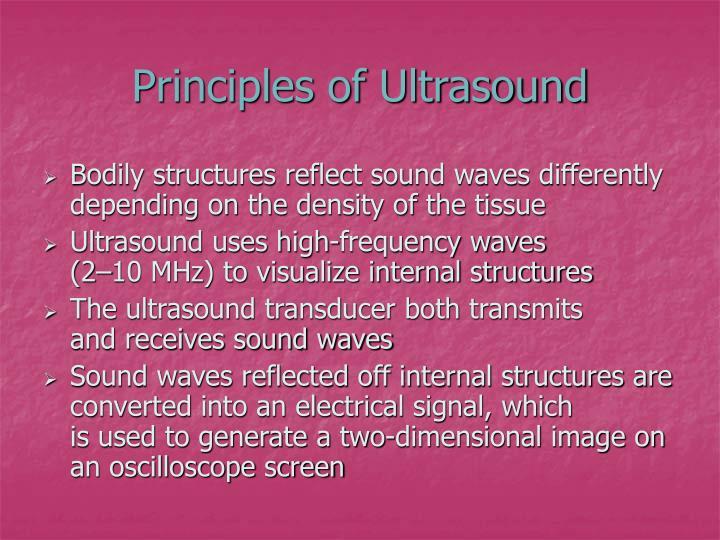 Principles of ultrasound