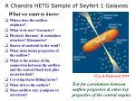 a chandra hetg sample of seyfert 1 galaxies