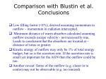 comparison with blustin et al conclusions