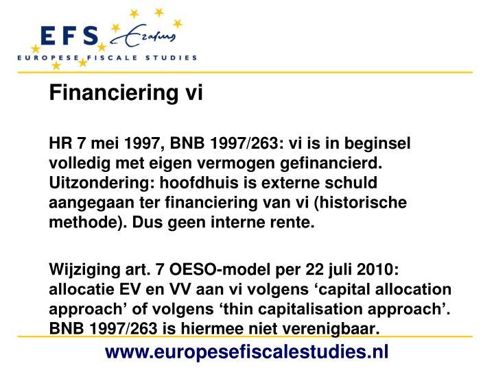 Financiering vi
