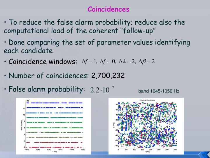 Coincidences