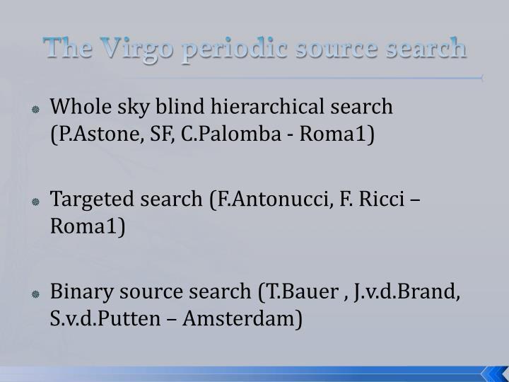 The Virgo periodic source search