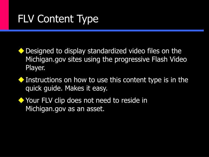 FLV Content Type