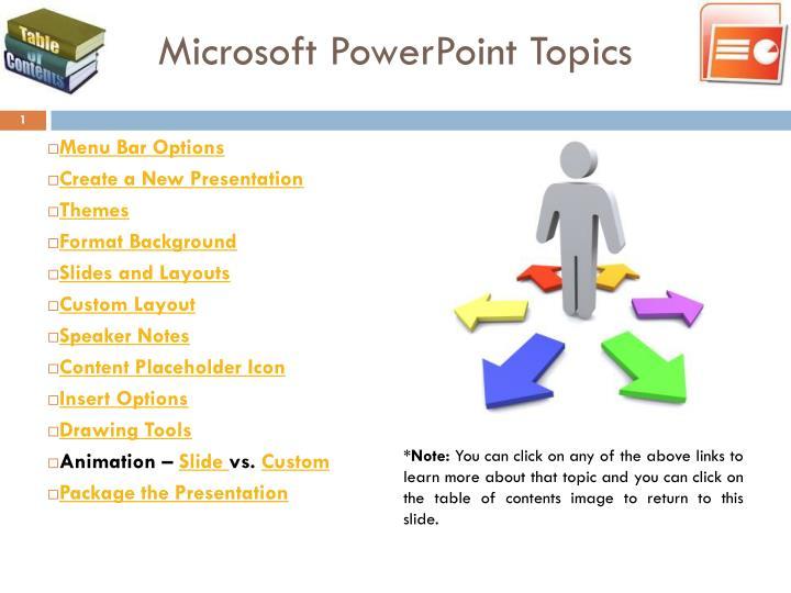 Microsoft PowerPoint Topics