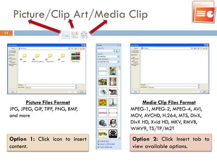 Picture/Clip Art/Media Clip