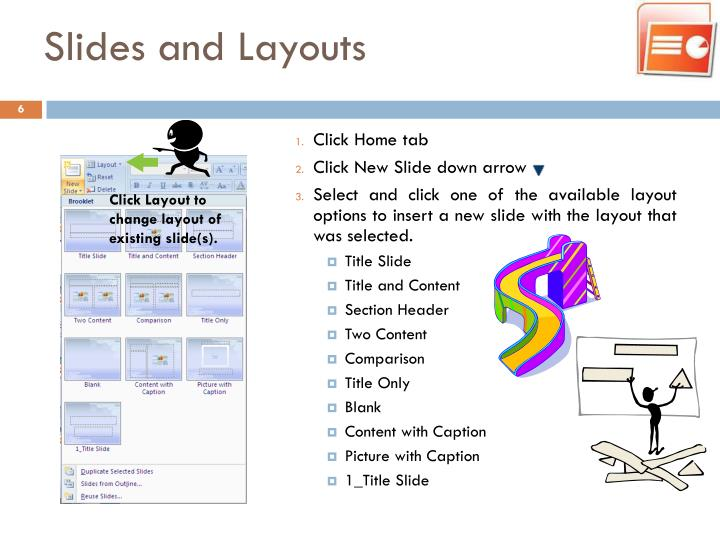 Slides and Layouts