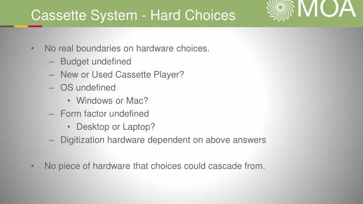 Cassette System - Hard Choices