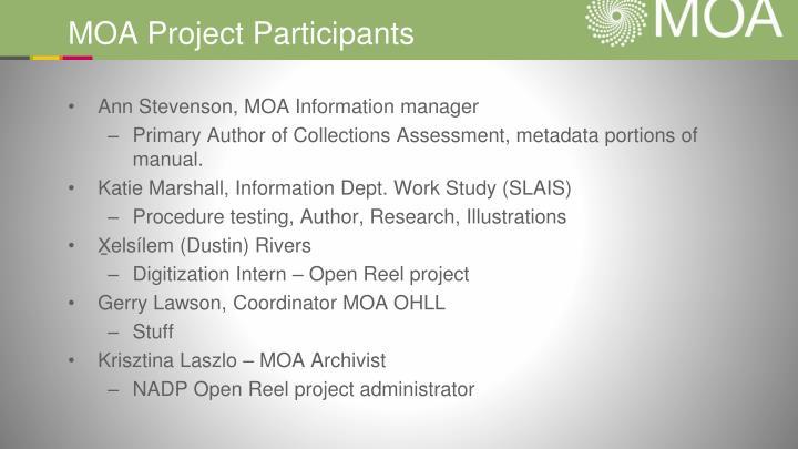 MOA Project Participants