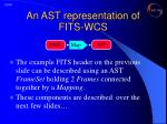 an ast representation of fits wcs1