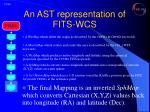 an ast representation of fits wcs10