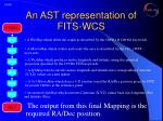 an ast representation of fits wcs11