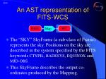 an ast representation of fits wcs3