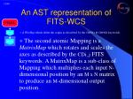 an ast representation of fits wcs6