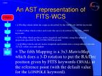 an ast representation of fits wcs9
