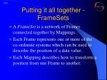 putting it all together framesets